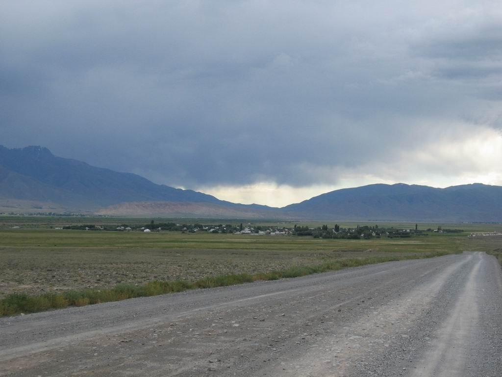 View to Ortok, Базар-Курган