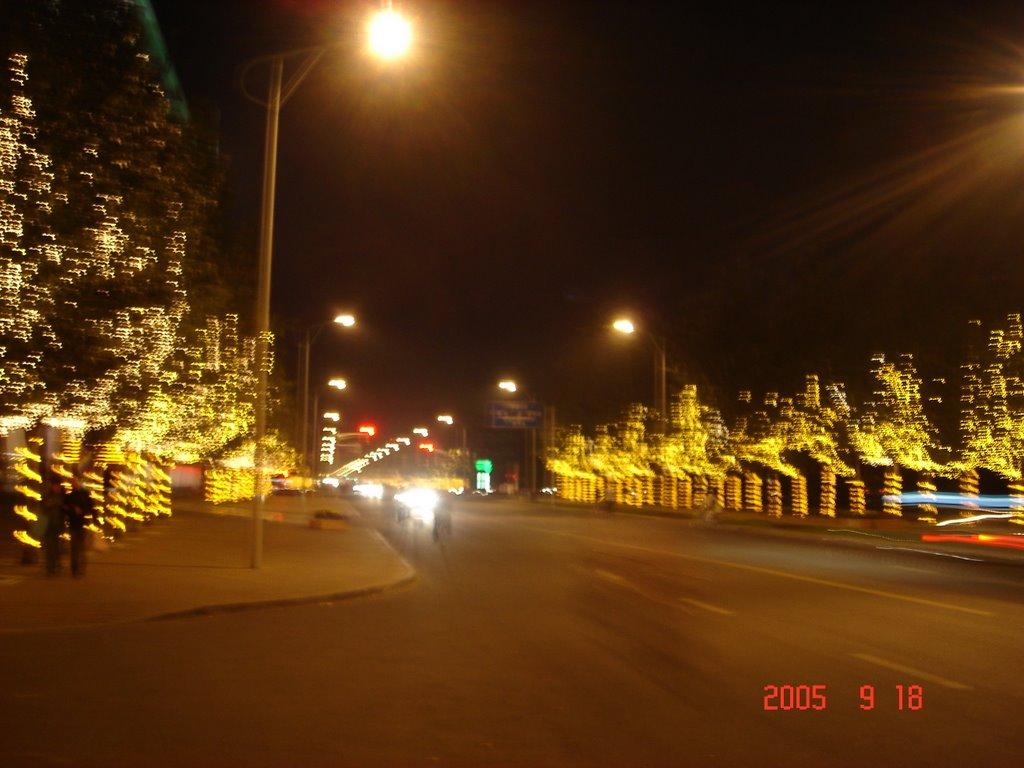 包头夜景, Баотоу