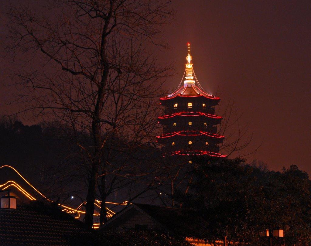 夜幕下的雷峰塔 The night Leifeng pagoda(2009元宵 Lantern Fastival ), Ханчоу