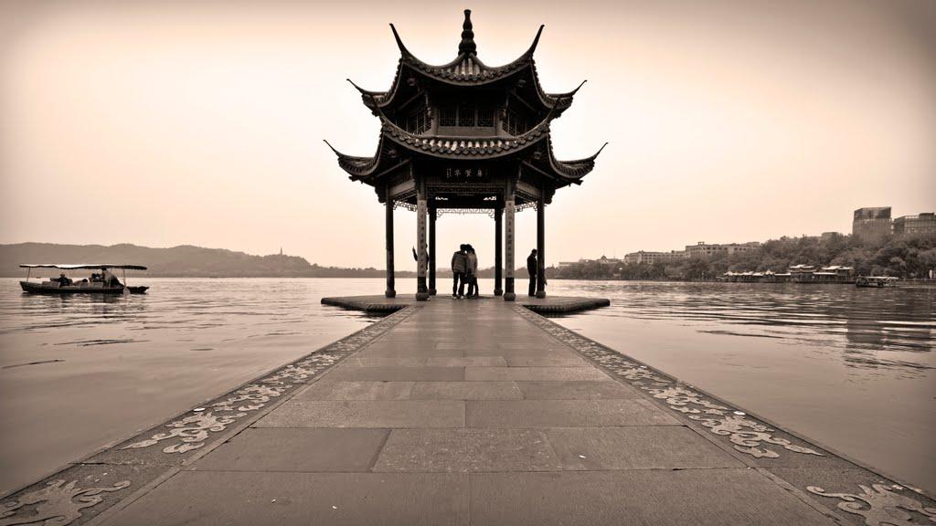 杭州西湖 - West Lake Pagoda, Hangzhou, Ханчоу
