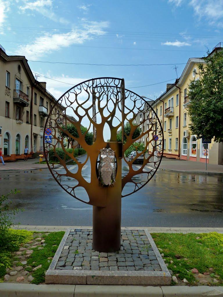 """Скульптура """"Филин"""", Барановичи"""