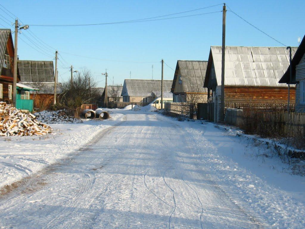 Citkova street in Biahomĺ, Бегомль