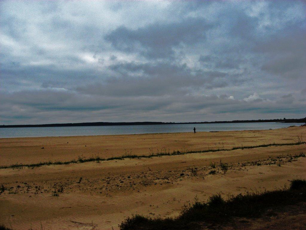 холодный ноябрьский пляж, Браслав