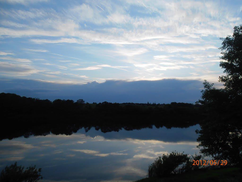 закат на берегу Двины, Верхнедвинск
