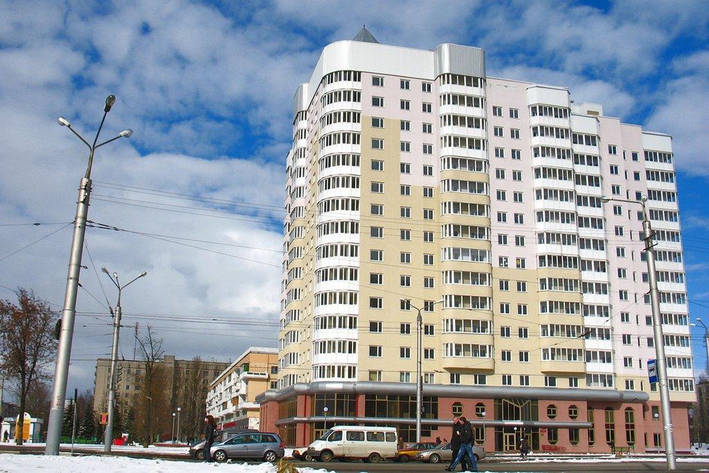 New house at Budaŭnikoŭ street, Витебск