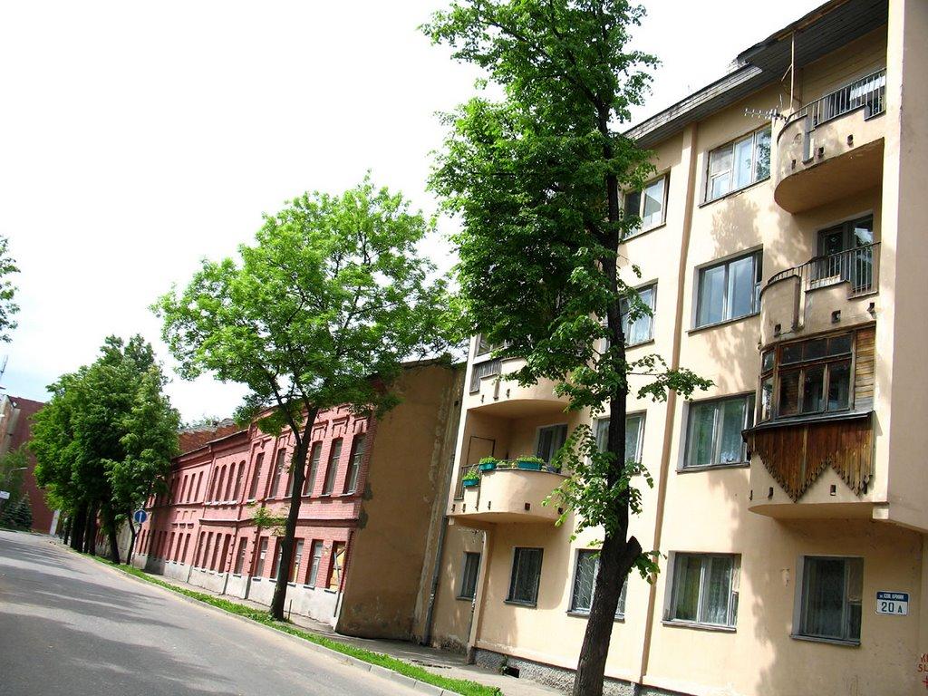 Nikoĺskaja (at p.t. Soviet Army) street in Viciebsk, Витебск