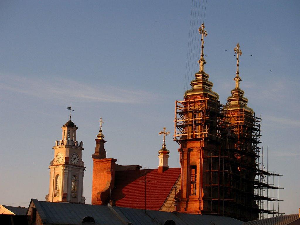 City Hall & Church of Resurrection in Viciebsk, Витебск