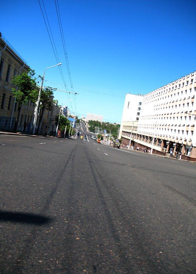 Vialikaja (Lienina) street in Viciebsk, Витебск