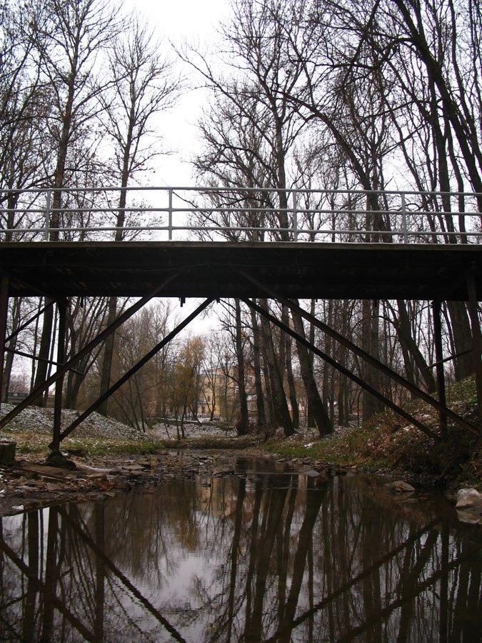 The foot-bridge over Dunaj streem in Viciebsk, Витебск