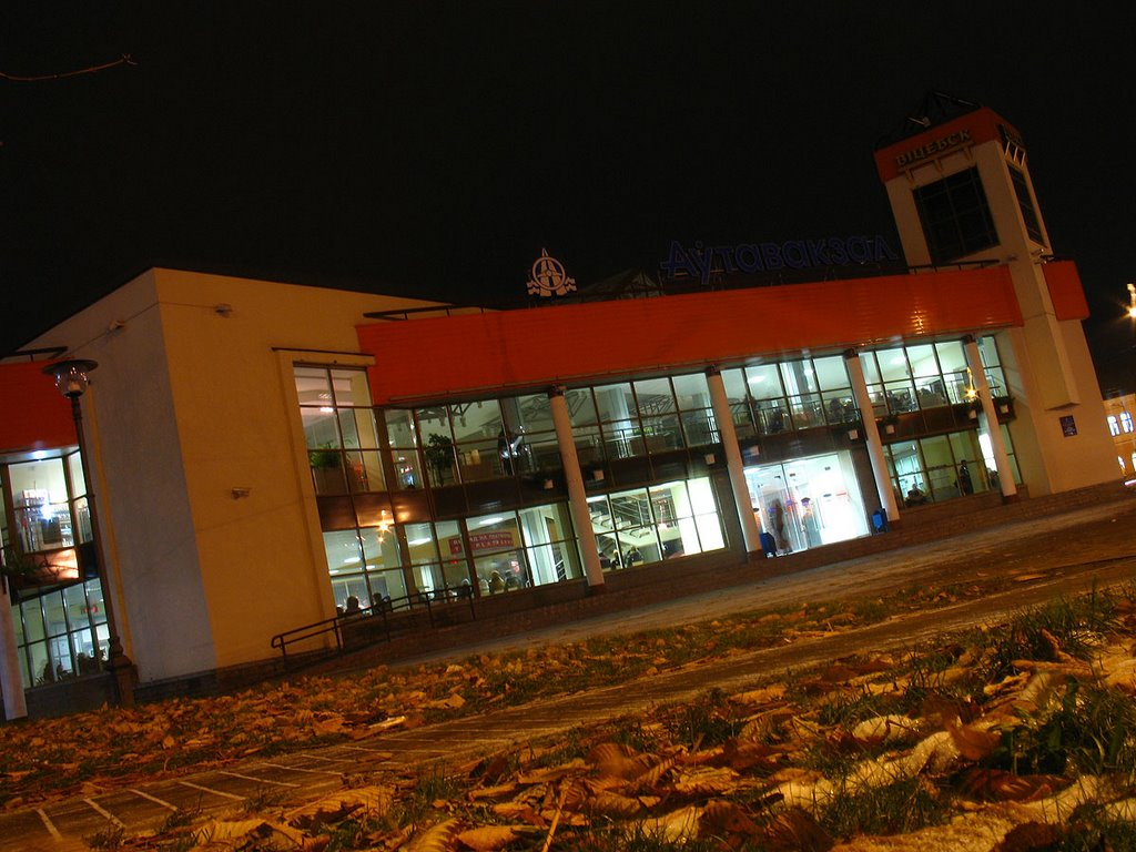 Viciebsk bus station at night, Витебск