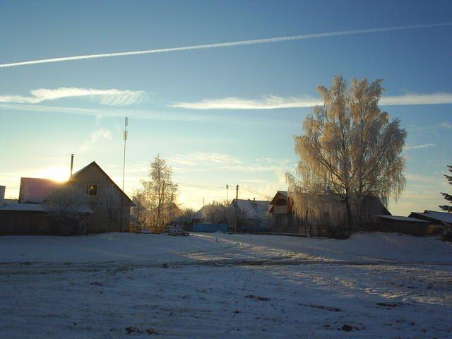 Зимнее утро, Городок