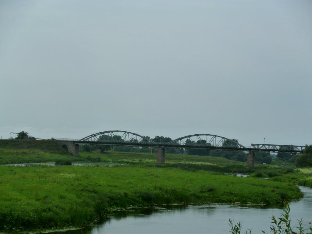 The centenary bridge through the river Disna, Дисна