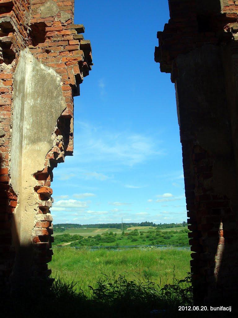 Вид из развалин больницы, Дисна