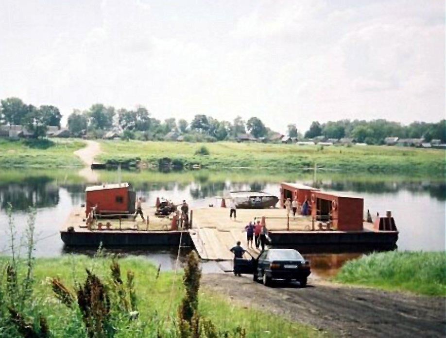 The ferry through the river Dvina, Дисна