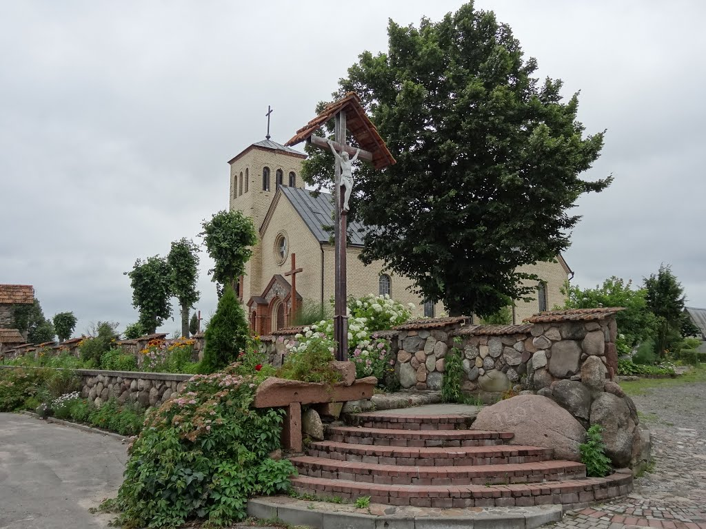 catholic church in Dokšycy /  kaścioł u Dokšycach, Докшицы