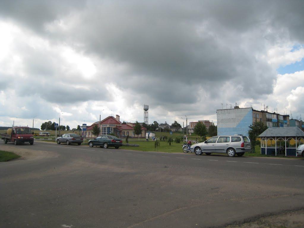 Proche de la place du marché à Dokchytsy, Докшицы