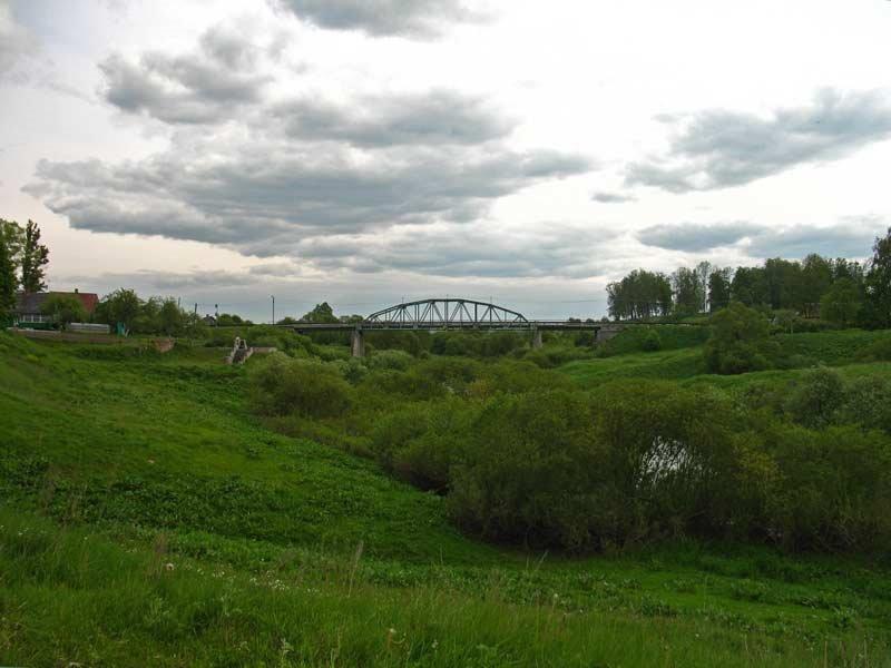 Bridge over Drujka river in Druja, Друя