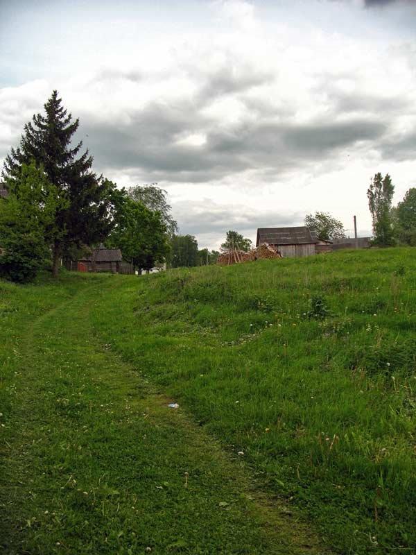 Hillside road in Druja, Друя