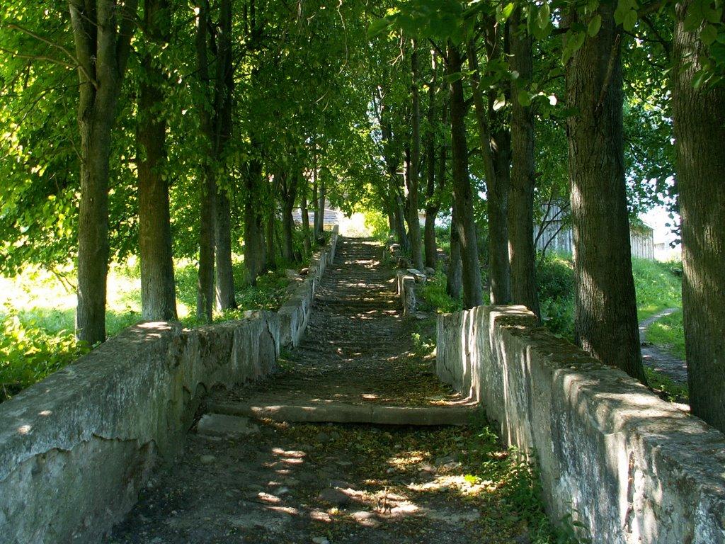 Друя - лестница возле Старой школы, Друя