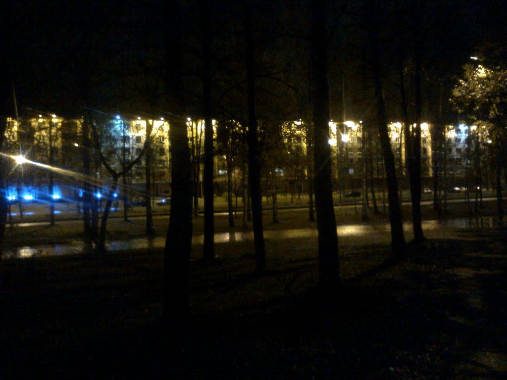 ночной город, Новополоцк