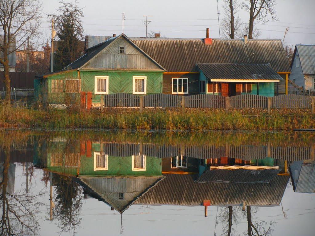 Пруд на реке Мяделка. Город Поставы, Поставы