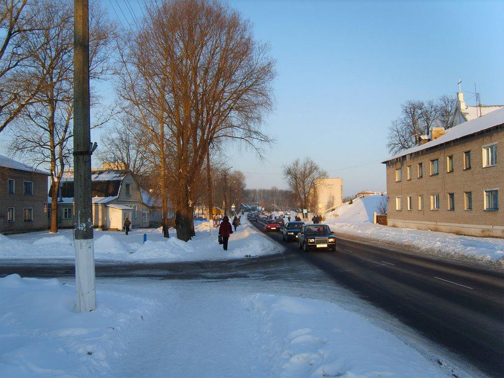 Зимнее утро - все на работу!, Толочин