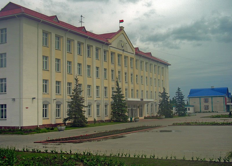At the central square of Šarkaŭščyna, Шарковщина