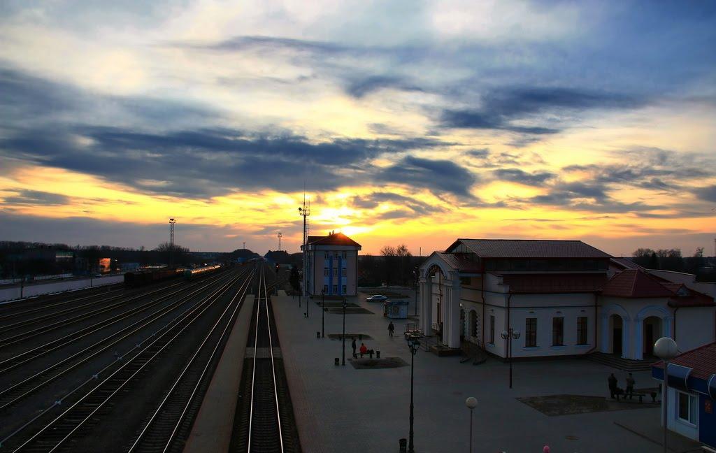 ЖД станция, Речица 26.03.2010, Белицк
