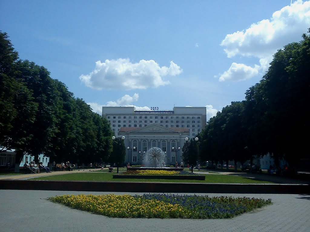 "фонтан ""одуванчик"" ... Fountain ""the Dandelion"", Гомель"