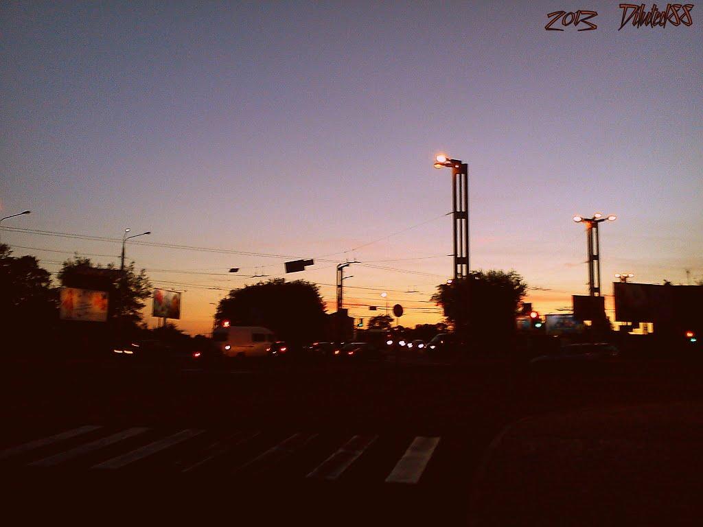 Вечар над скрыжаваннем трох дарог ... Evening over the crossroads of three roads, Гомель