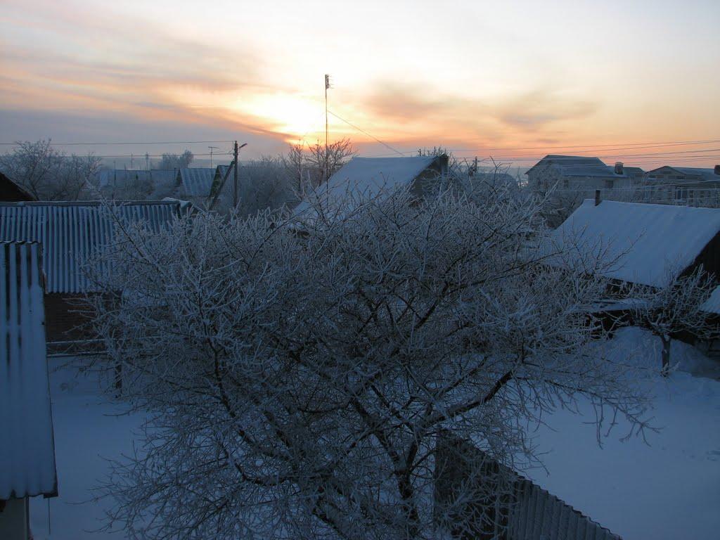 Зимний закат, Добруш