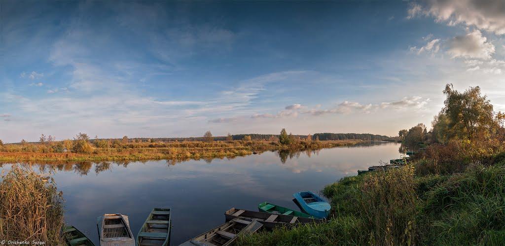 Панорама реки Ипуть. Добруш., Добруш