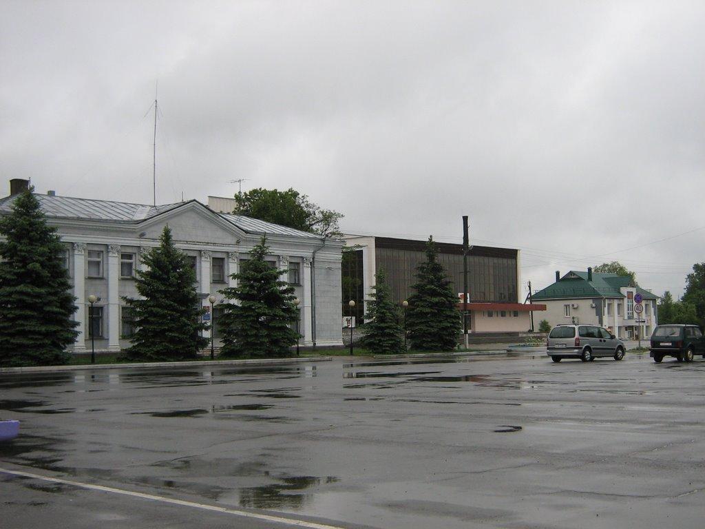 Житковичи, Центральная площадь. Zhytkavichy, the Central square, Житковичи