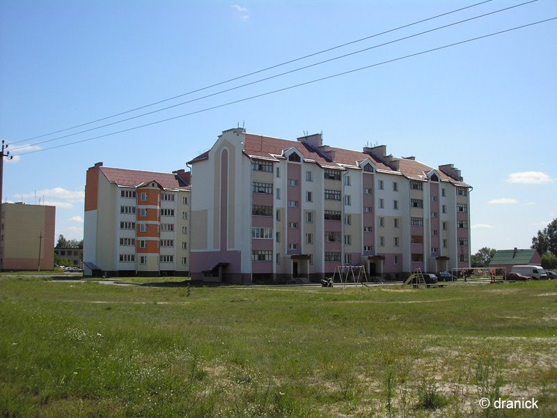 Лельчицы - новые дома по улице Советская, Лельчицы