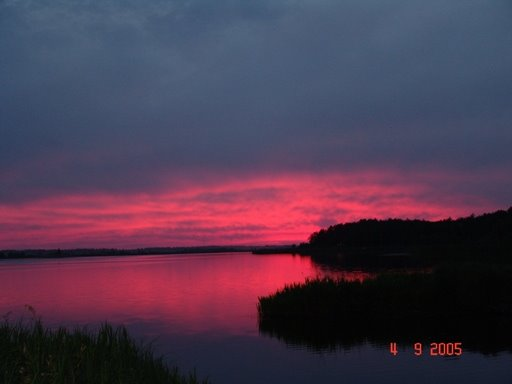Sonnenuntergang am Pripyet, Мозырь