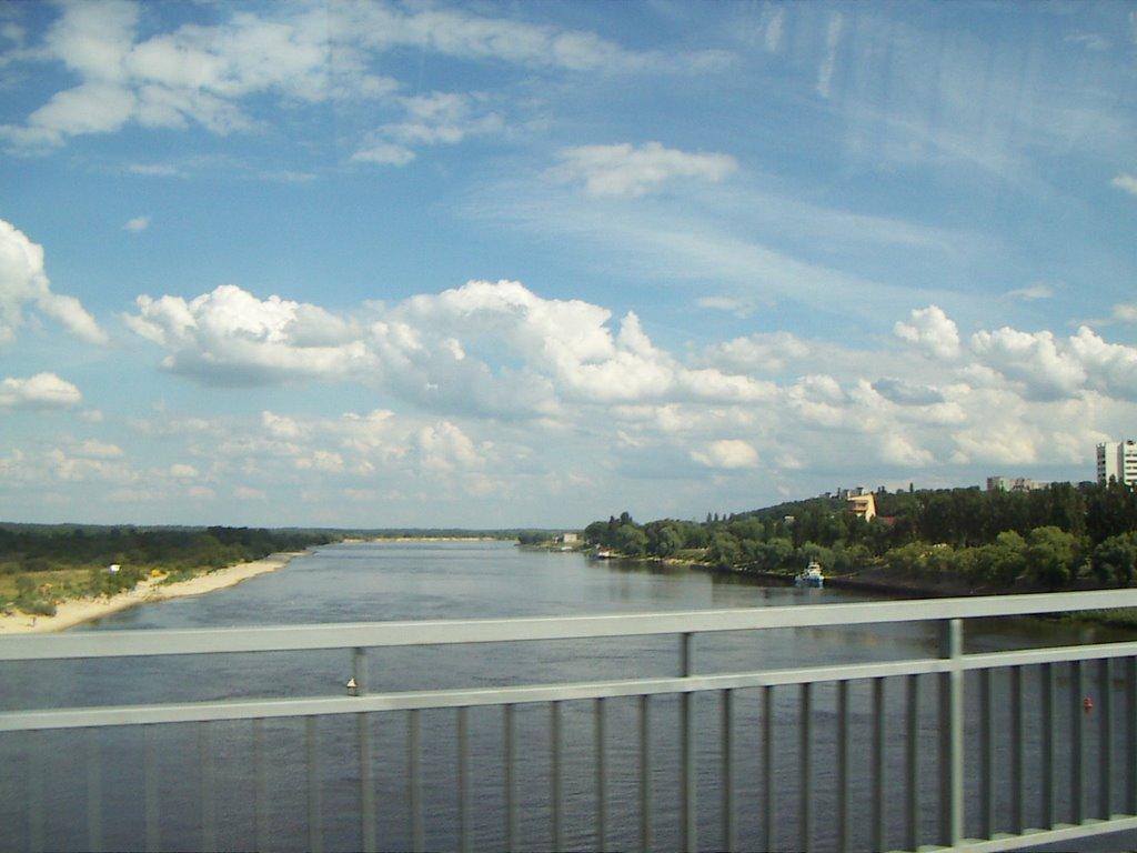 View from a bridge, Мозырь