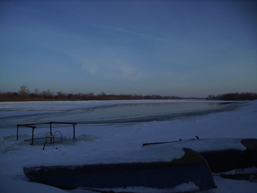 Припять (зима2009), Наровля