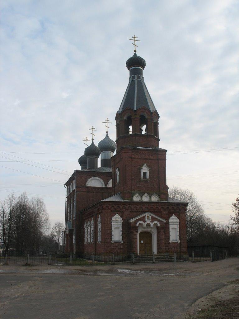 Целуша.Царква.The orthodox church., Октябрьский