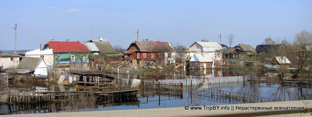 Разлив реки в пригороде Бобруйска. Апрель 2010., Октябрьский