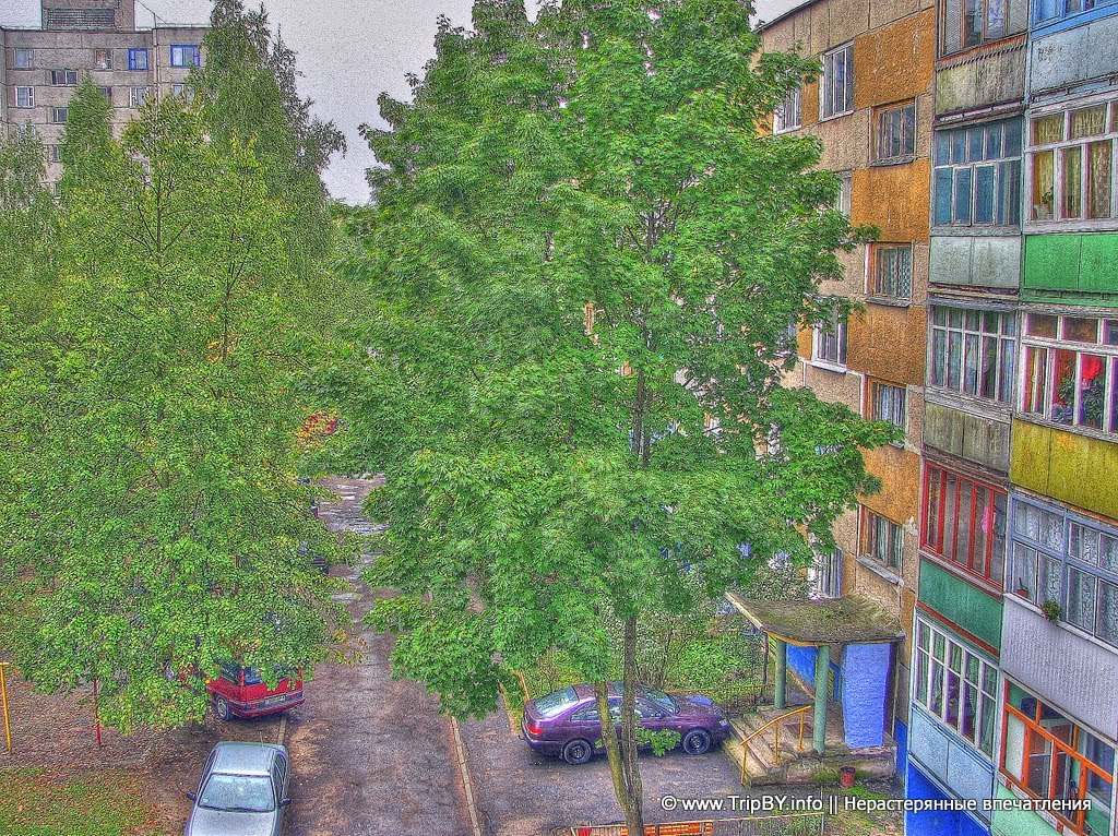 Городской двор. HDR, Октябрьский
