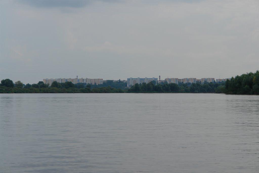 Вид на Речицу с Днепра, Речица
