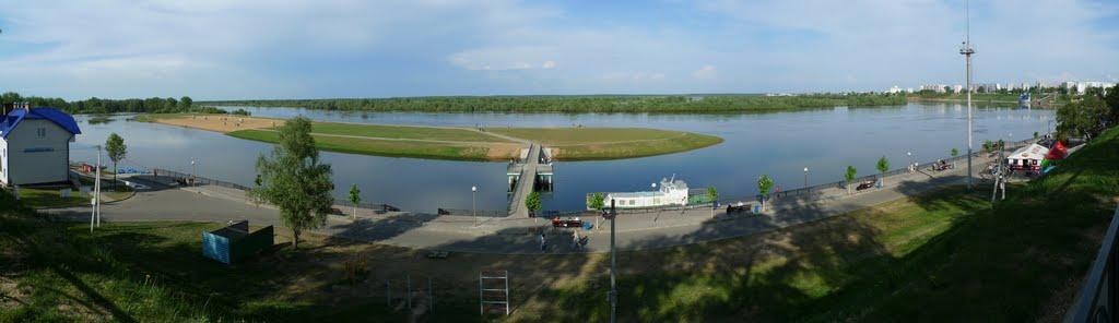 The Dnieper River, Rechytsa waterfront, Речица