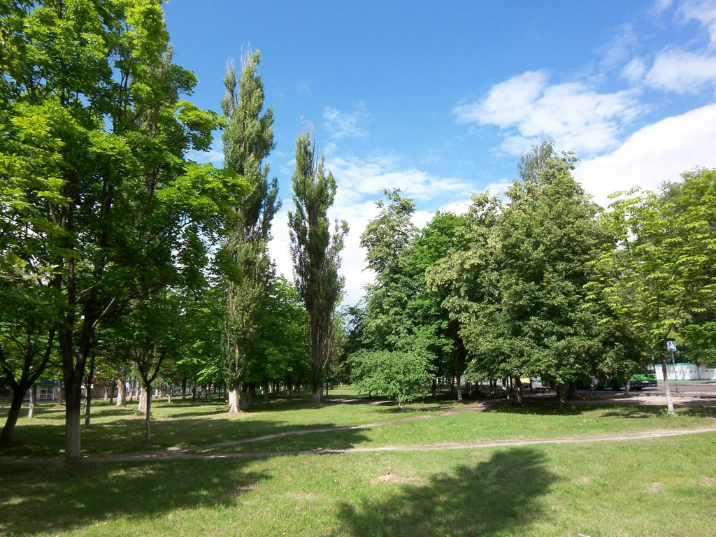 Park separating the districts, Светлогорск