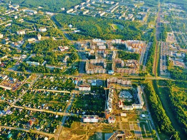 Светлогорск. Посёлок Нефтяников, микрорайон Полесье., Светлогорск