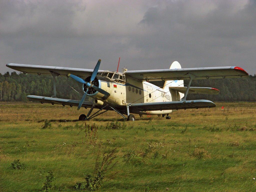 An-2 EW-40931 in fishfarm Selec, Козловщина