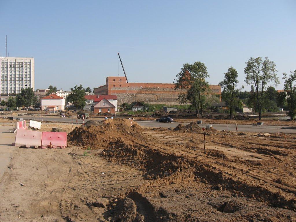 реконструкція Лідського замку ♦ renovation of the Lida Castle, Лида