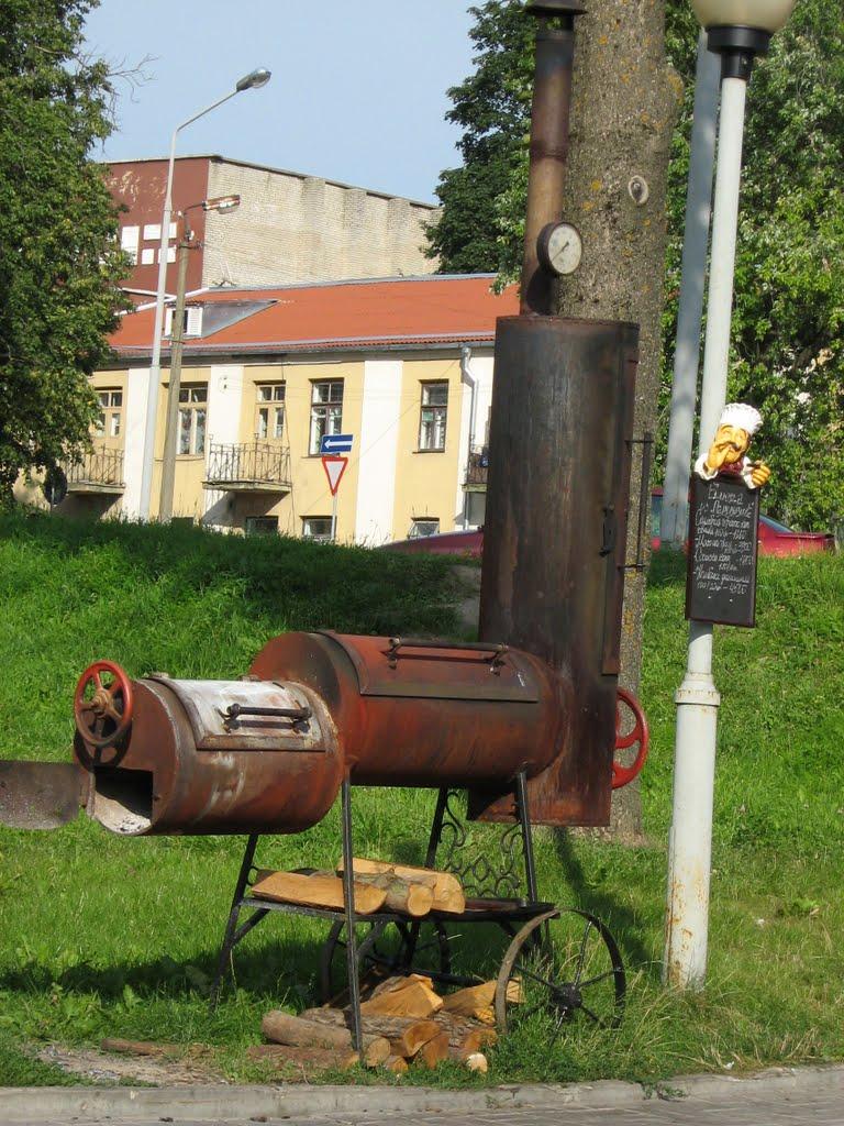 Паровоз-гриль. Steam locomotive - a grill., Новогрудок