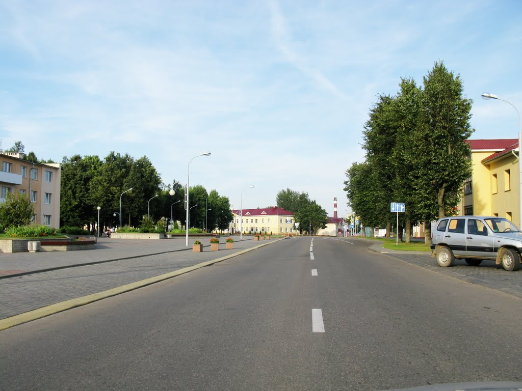 the town of Astravets (Ostrovets)_the main street, Островец
