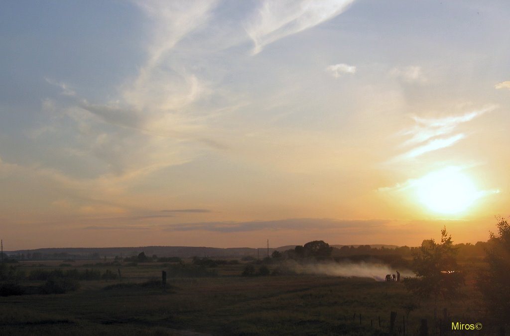 Slonim, Sun set., Слоним