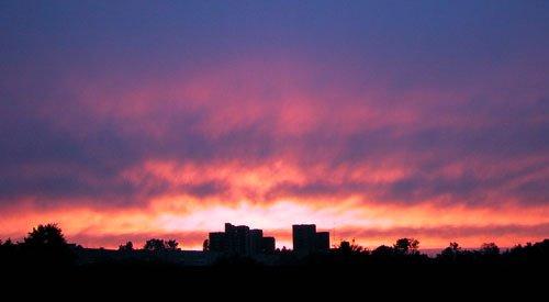 Sunset over the Isa, Слоним